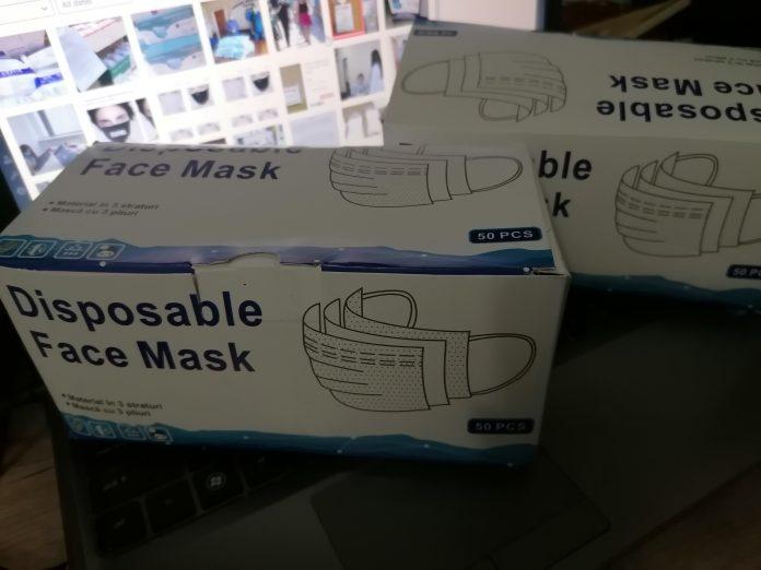 Mască igienică facială de unică folosință. FOTO Alexandra VASILE