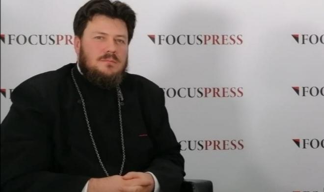 Preotul Eugen Tănăsescu, purtătorul de cuvânt al Arhiepiscopiei Tomisului